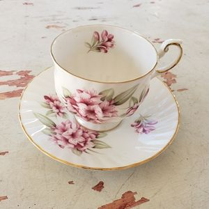 Vintage floral tea cup and saucer